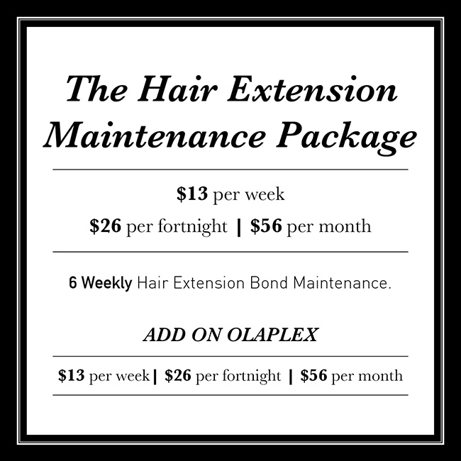 The Hair Extension Maintenance Packages
